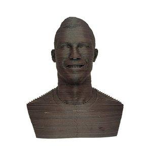 سردیس چوبی مدل چند لایه طرح کریستیانو رونالدو