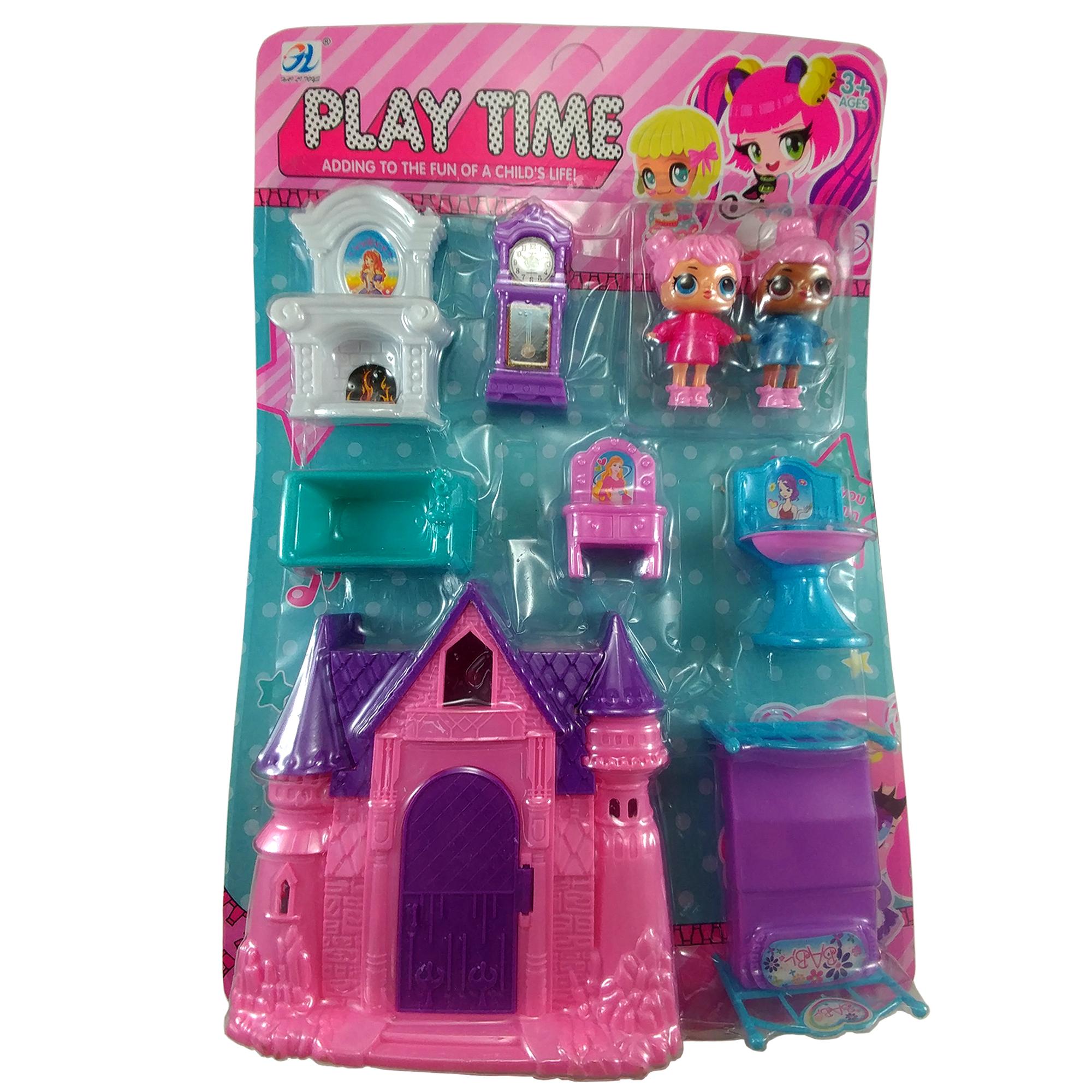 ست اسباب بازی خانه عروسکی مدل play time