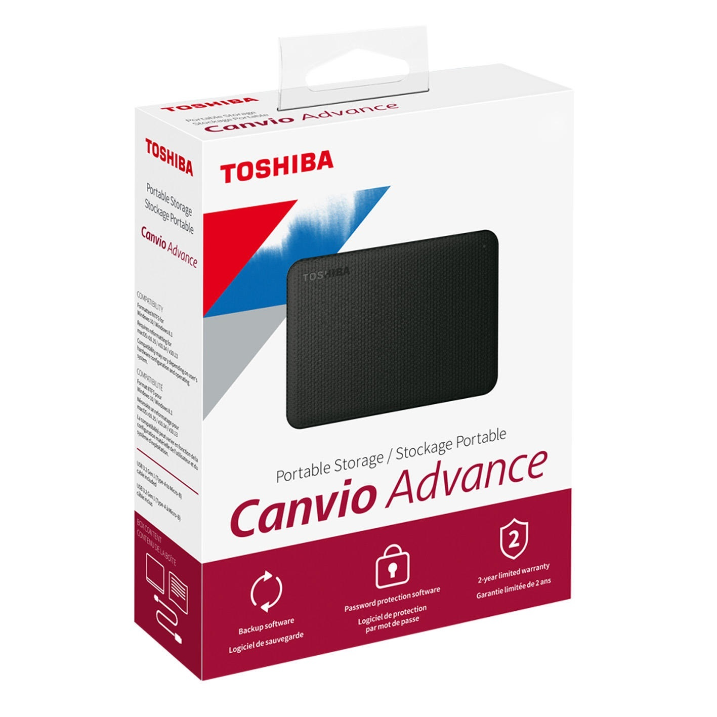 هارد اکسترنال توشیبا مدل Canvio Advance ظرفیت 1 ترابایت