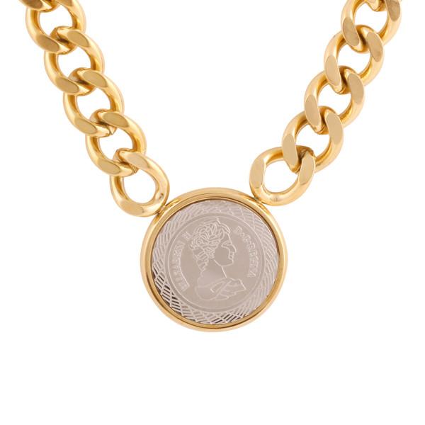 گردنبند زنانه استینلس استیل مدل سکه کد N3423