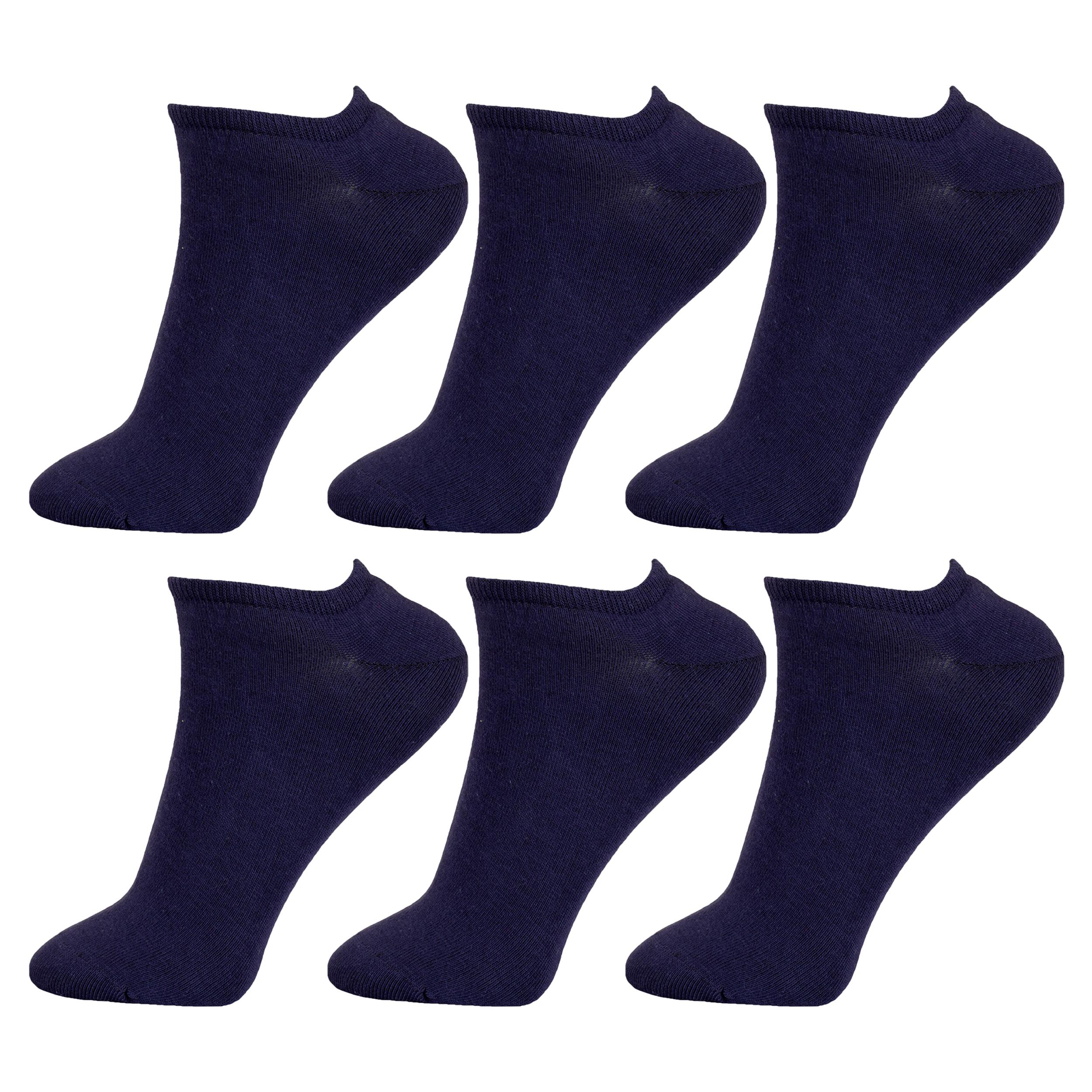 جوراب زنانه مستر جوراب کد BL-MRM 214 بسته 6 عددی
