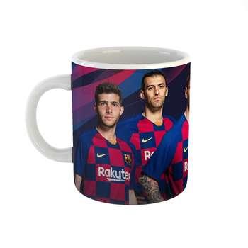 ماگ مدل بازیکنان تیم بارسلونا طرح barcelona کد 2168