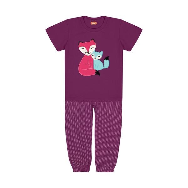 ست تی شرت و شلوار دخترانه مادر مدل 410-67