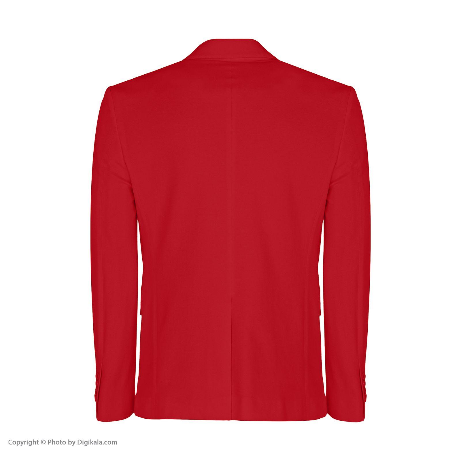 کت تک مردانه ان سی نو مدل جانسو رنگ قرمز -  - 3