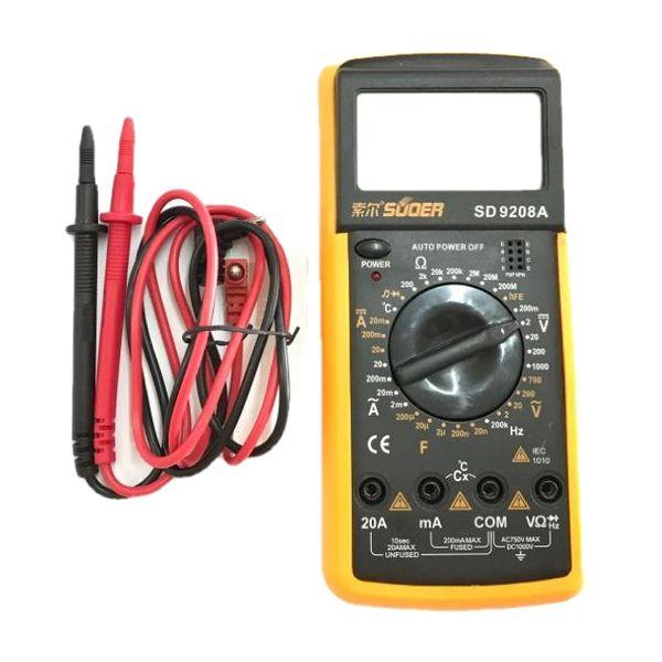 مولتی متر دیجیتال مدل SD-9208A
