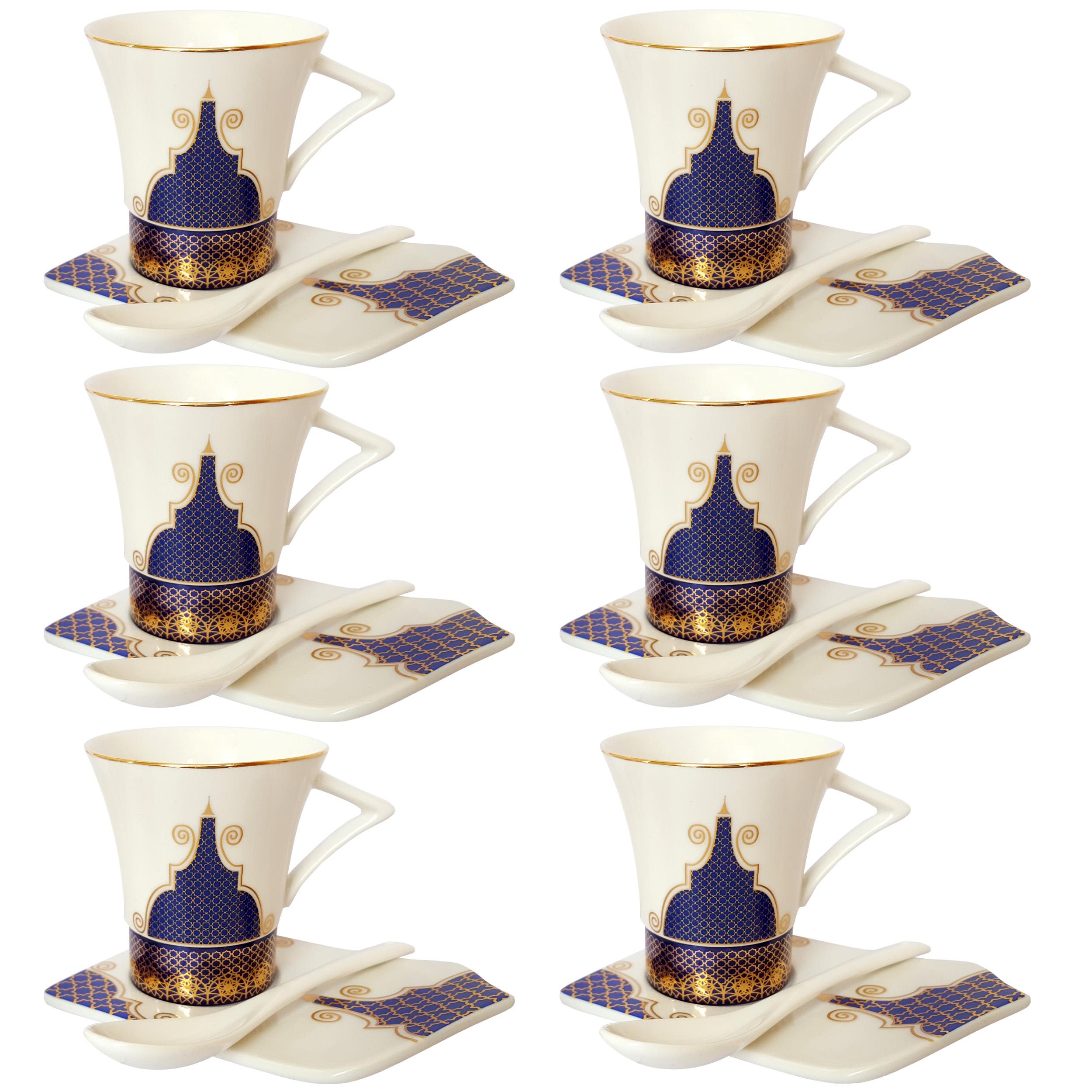 سرویس قهوه خوری 12 پارچه مدل مصری کد AB12-2