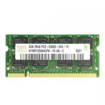رم لپ تاپ DDR2 تک کاناله 5300 مگاهرتز CL5 هاینیکس مدل HY6612 ظرفیت 2 گیگابایت
