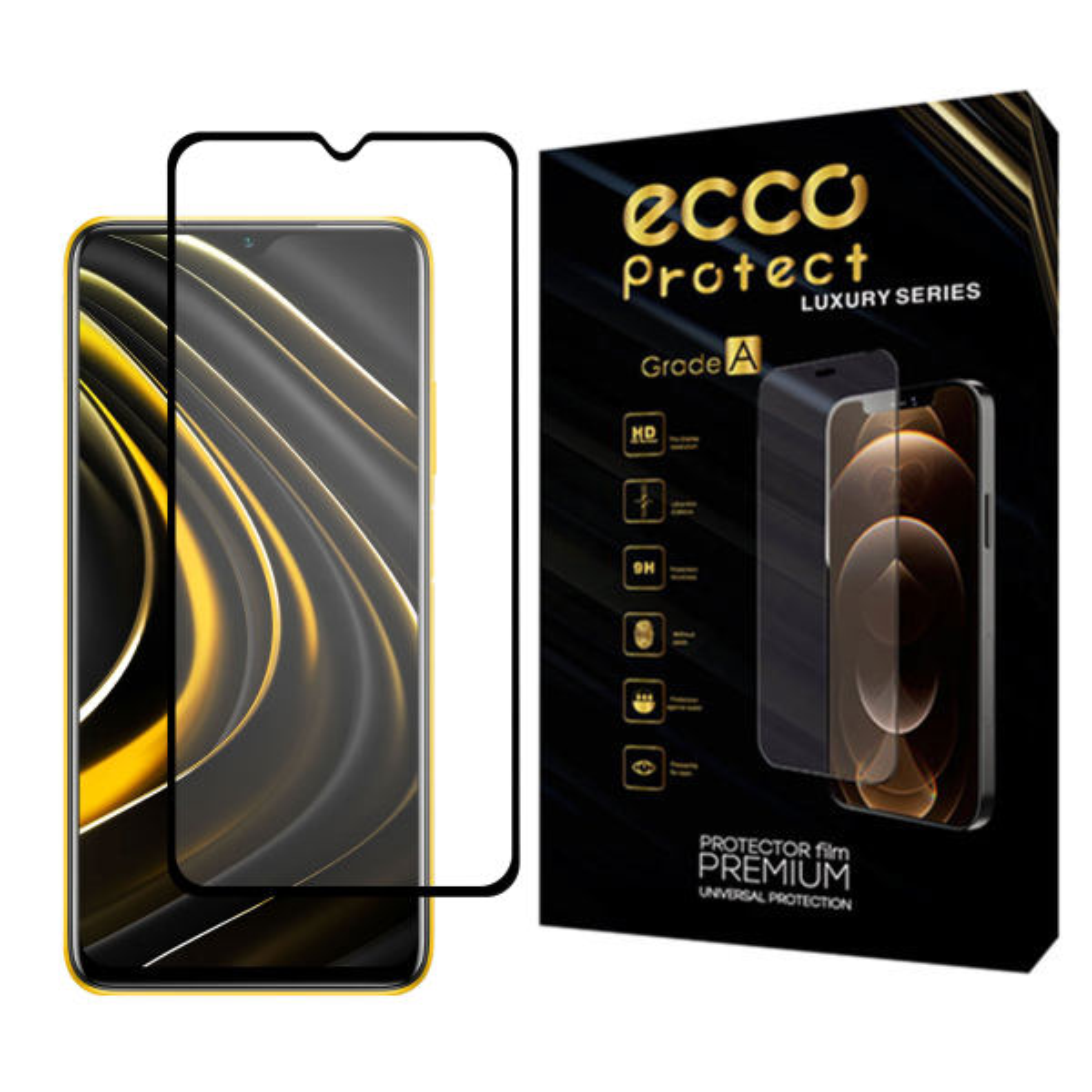 محافظ صفحه نمایش سرامیکی اکو پروتکت مدل ECG مناسب برای گوشی موبایل شیائومی Poco M3