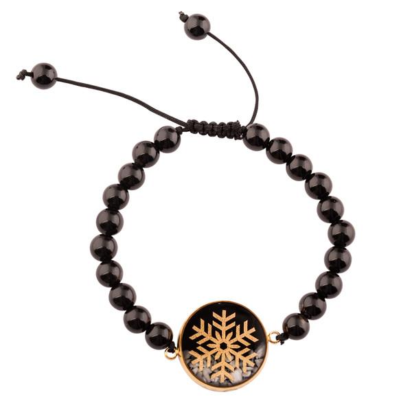 دستبند زنانه الون طرح برف کد ONI101