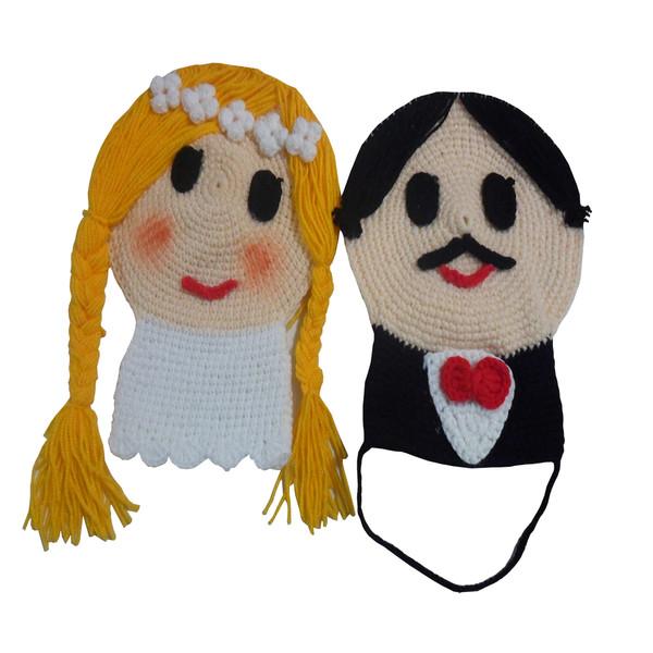 لیف حمام کودک مدل عروس و داماد کد 1000 بسته 2 عددی