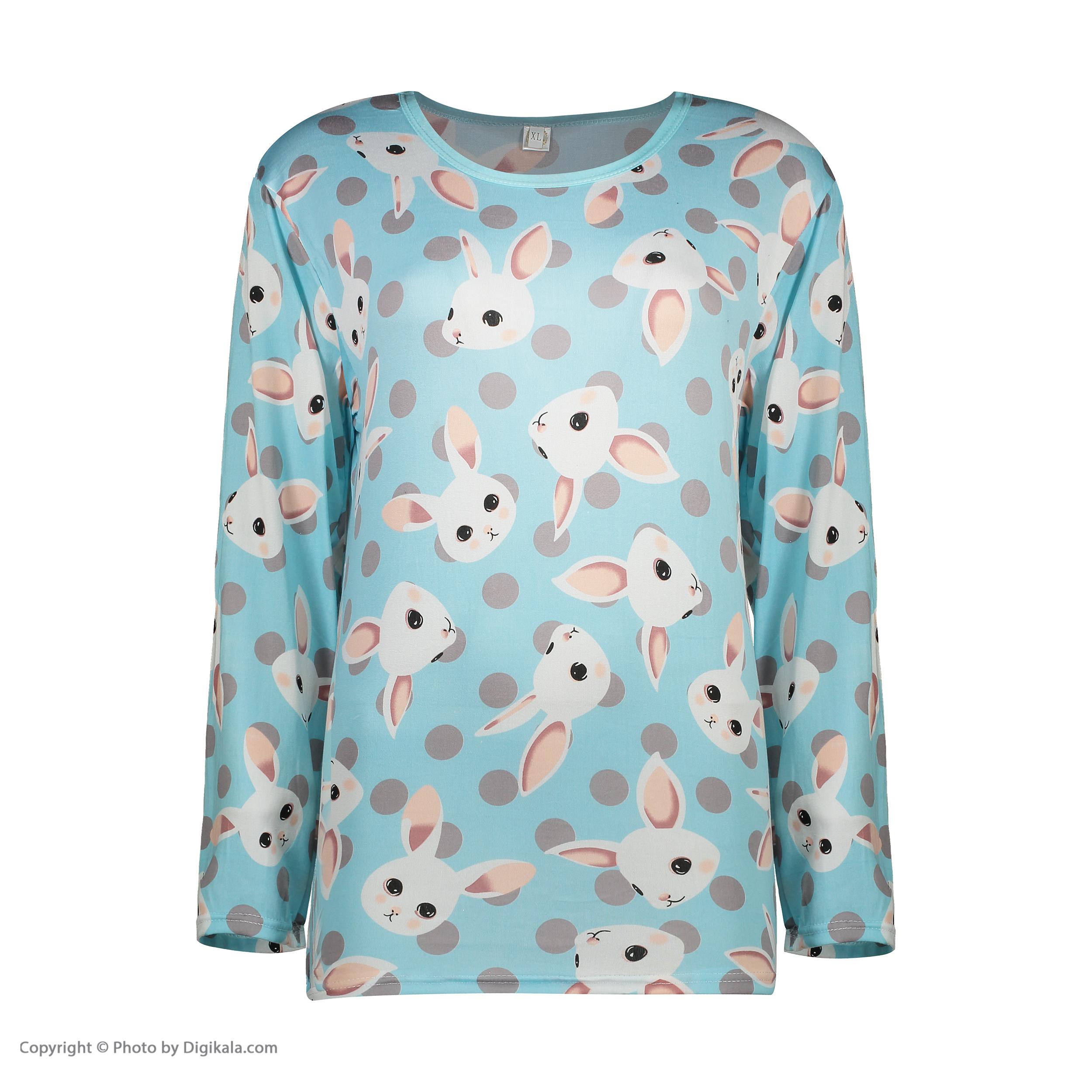 ست تی شرت و شلوار زنانه کد klnqsh- blzpnt.004.1