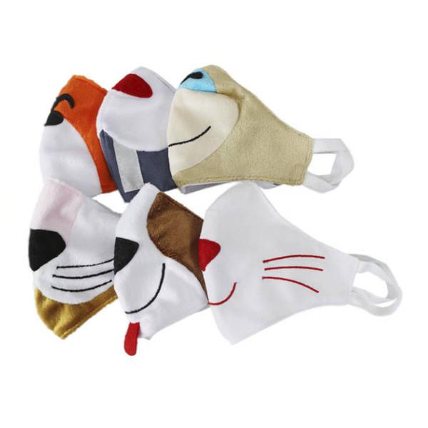 ماسک تزیینی طرح حیوانات کد 06 مجموعه 6 عددی