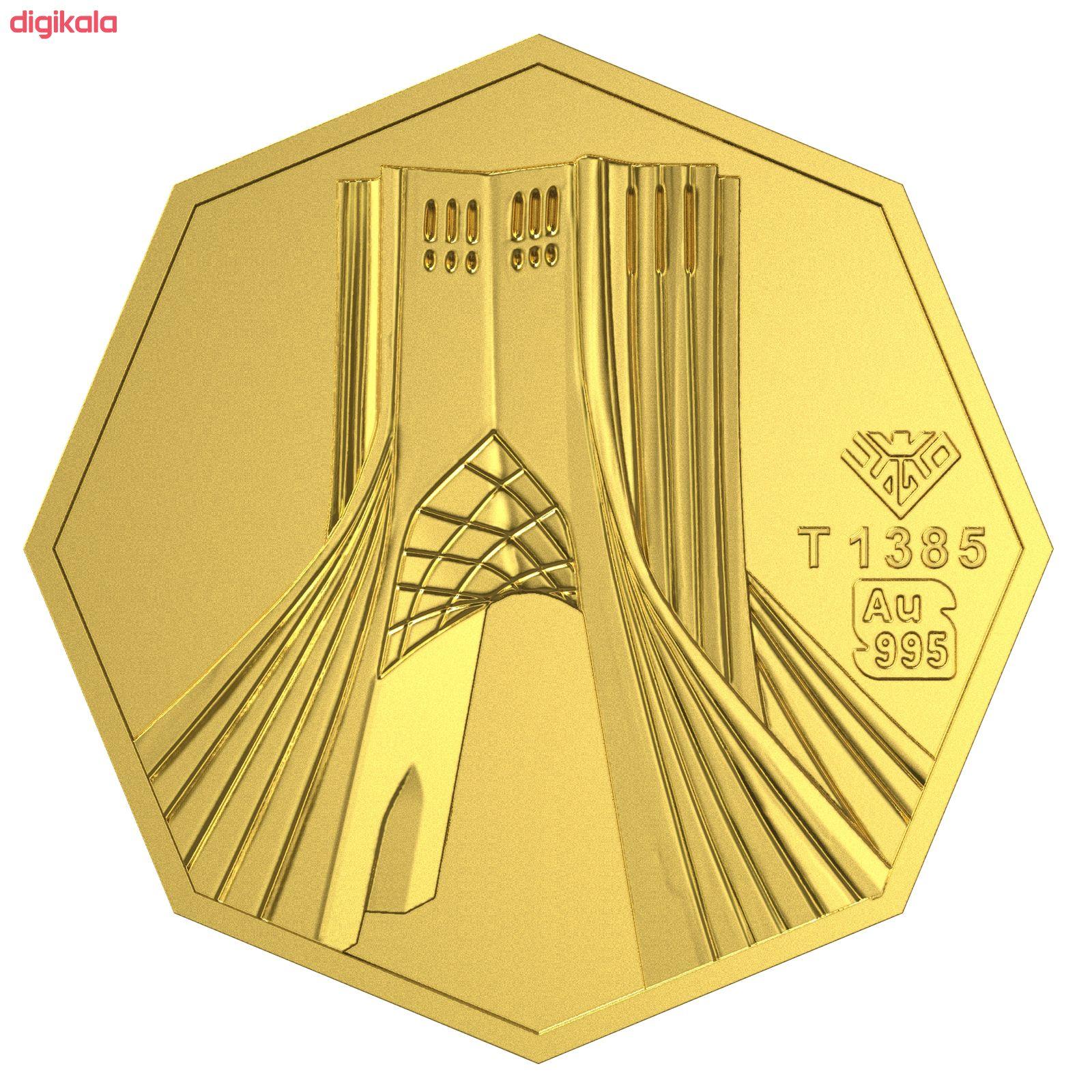 شمش طلا 24 عیار طلای محمد طرح برج آزادی کد 5000 main 1 2