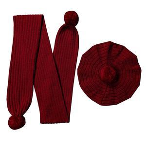 ست کلاه و شال گردن بافتنی مدل M