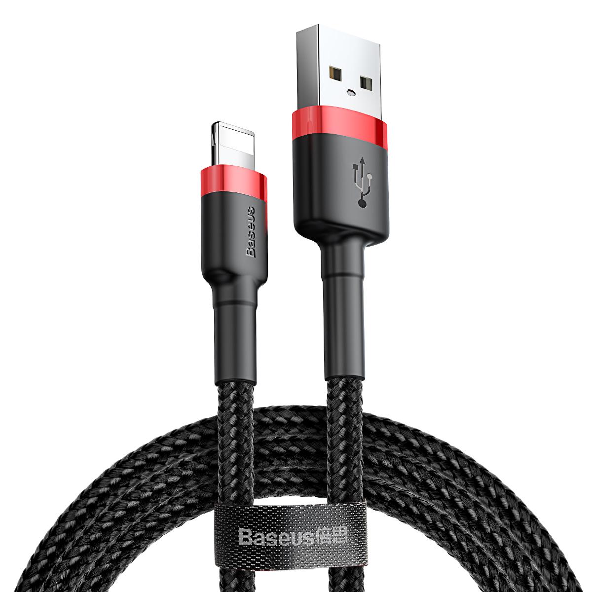 کابل تبدیل USB به لایتنینگ باسئوس مدل CALKLF-C19 Cafule طول 2 متر              ( قیمت و خرید)