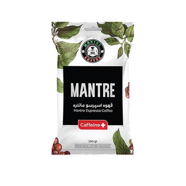 قهوه اسپرسو کافئین پلاس مانتره - 100 گرم