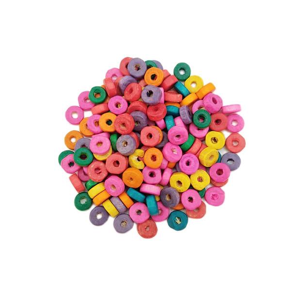 مهره دستبند مدل rainbow بسته 100 عددی