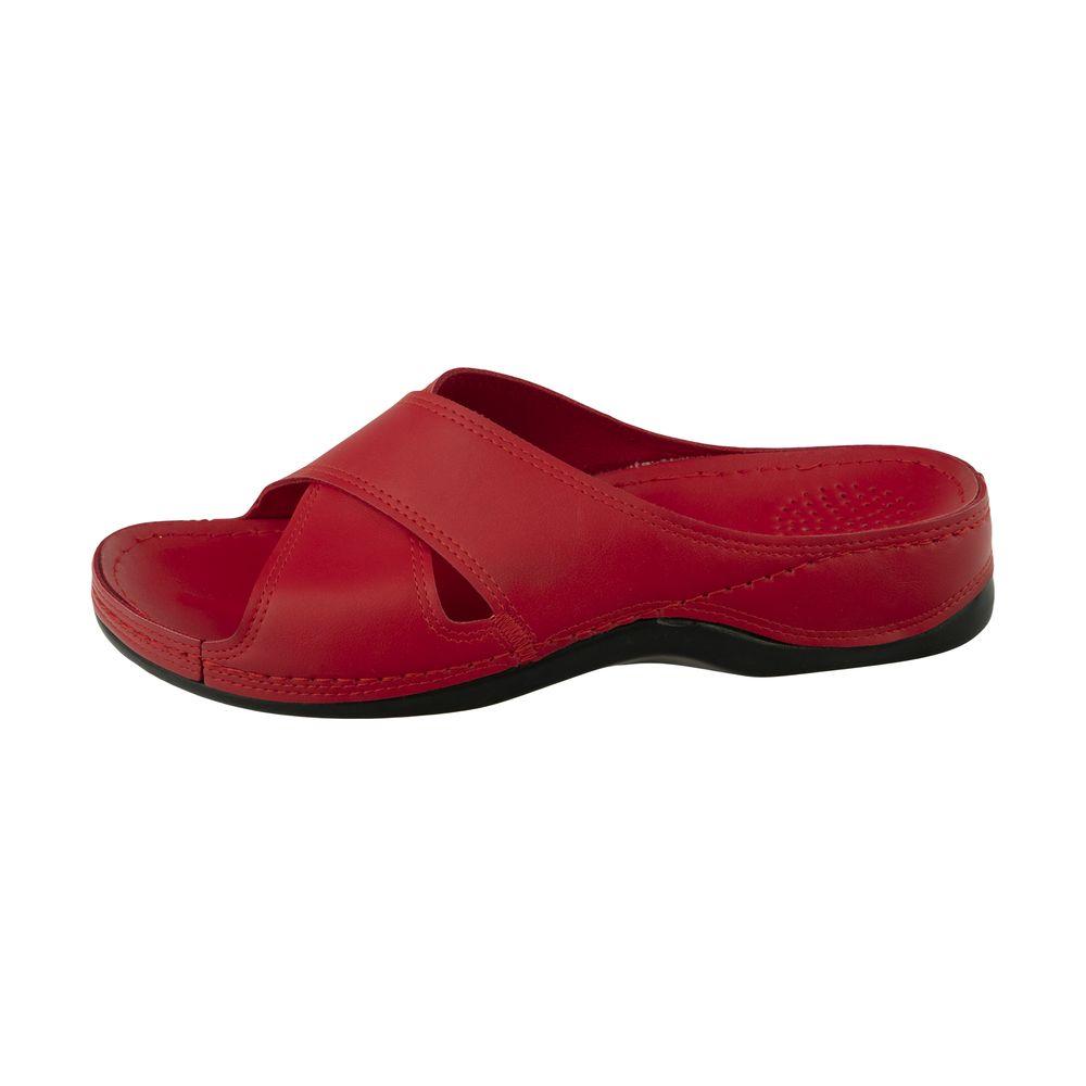 دمپایی زنانه کفش آویده کد av-0304506 رنگ قرمز