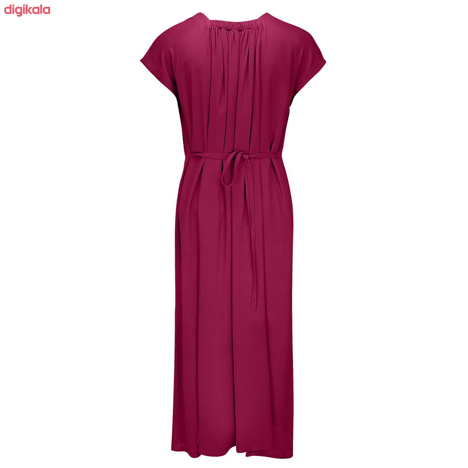 پیراهن زنانه مدل BR011 رنگ زرشکی main 1 1