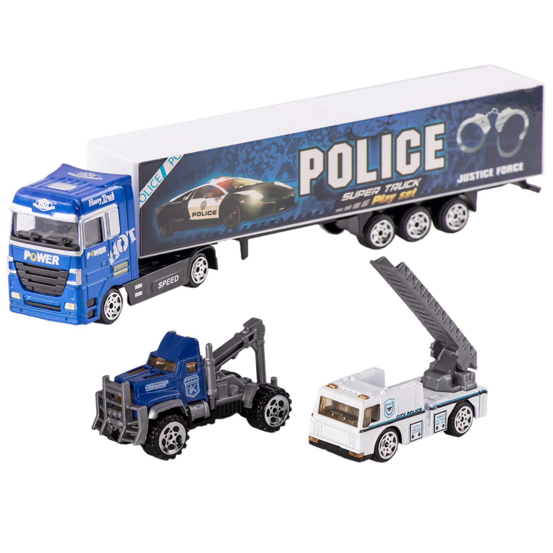 ماشین بازی طرح پلیس مدل Advanced مجموعه 3 عددی