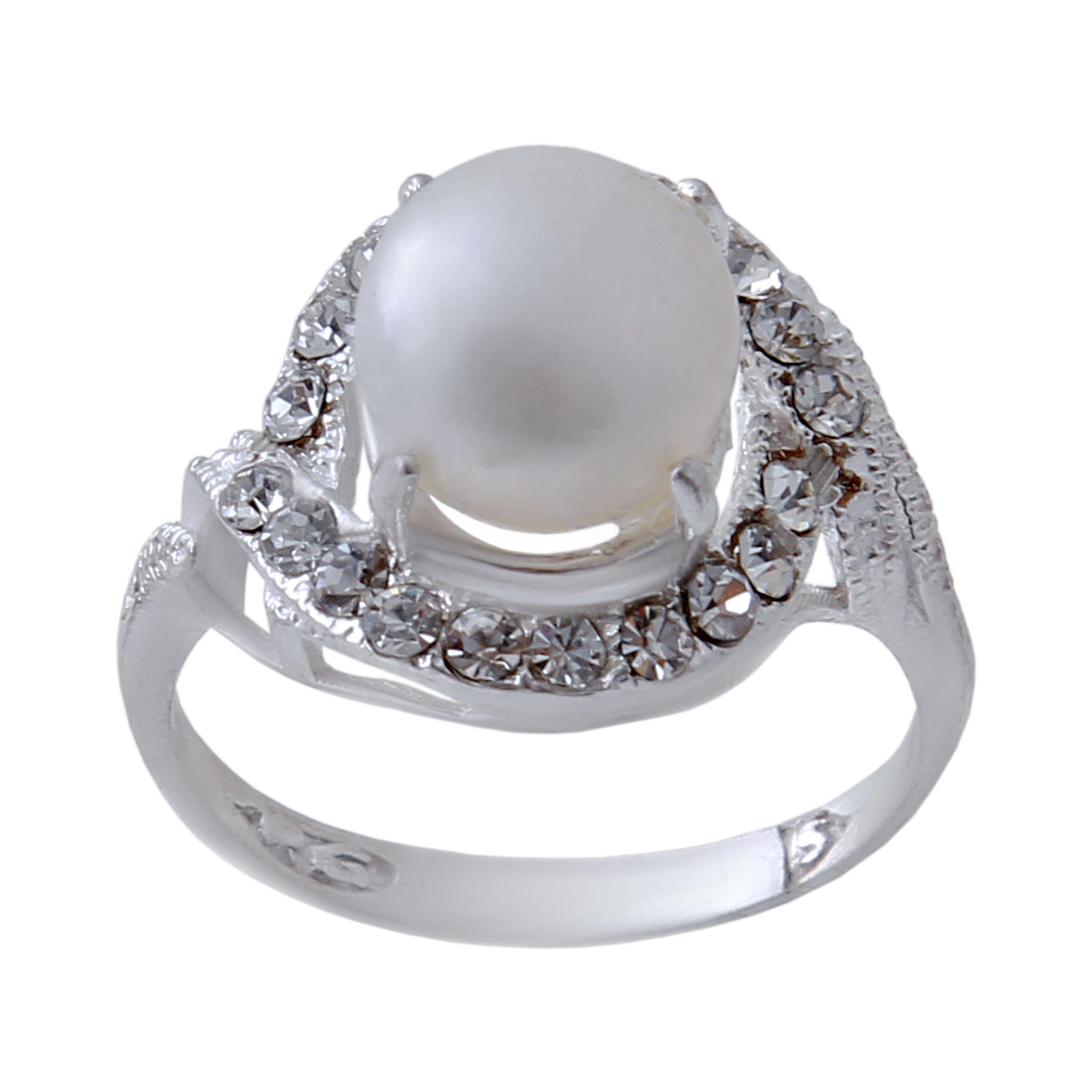 انگشتر نقره زنانه بازرگانی میلادی کد AW_320