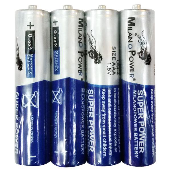باتری قلمی میلانو پاور کد 85 بسته 4 عددی
