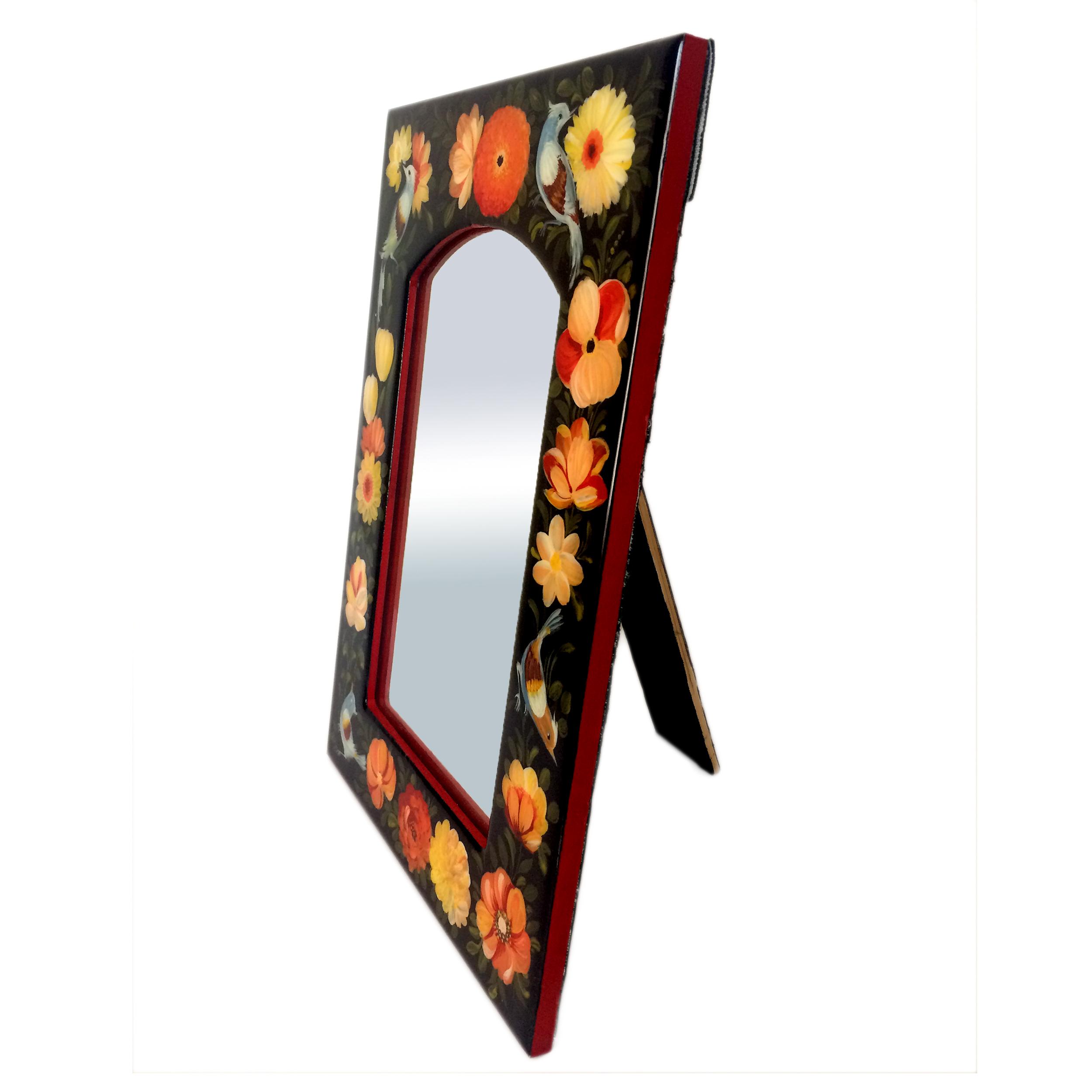 خرید                      آینه مدل گل و مرغ کد 007