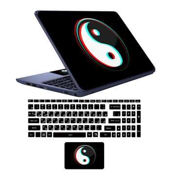 استیکر لپ تاپ طرح bl-ck کد 01 به همراه برچسب حروف فارسی کیبورد