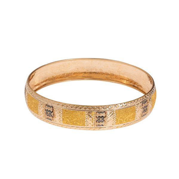 النگو طلا 18 عیار زنانه گالری یارطلا کد AL36-G-3