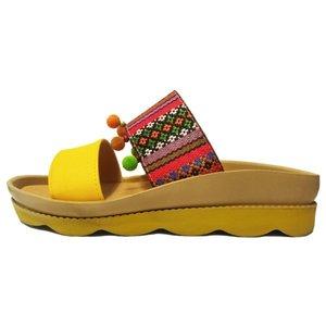 دمپایی زنانه زرپای کد 3-558 رنگ زرد