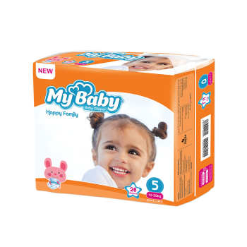 پوشک بچه مای بیبی کد 01 سایز 5 بسته 28 عددی