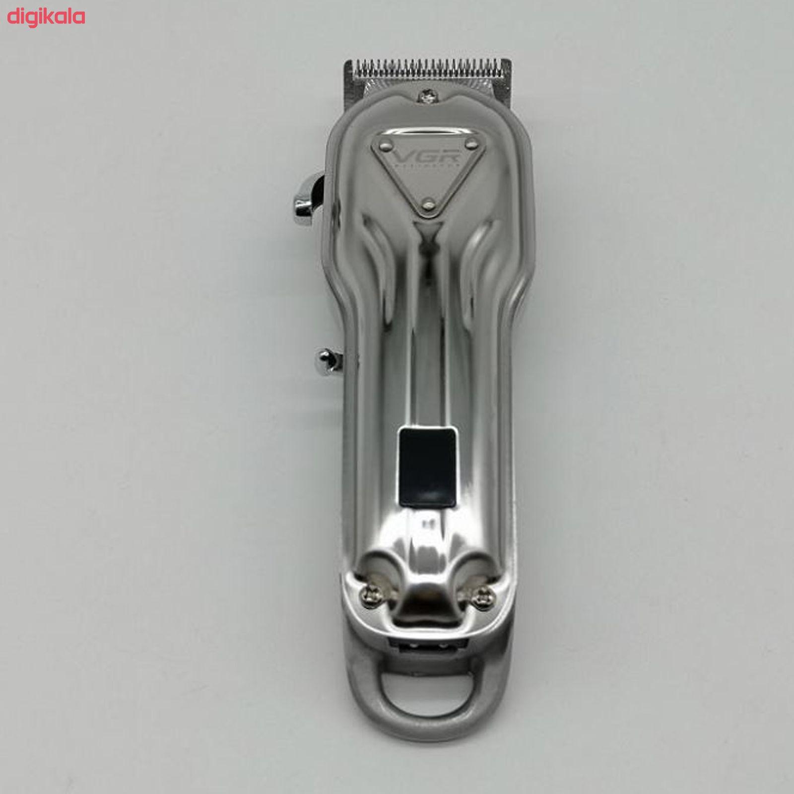 ماشین اصلاح موی سر و صورت وی جی ار مدل V-134 main 1 4