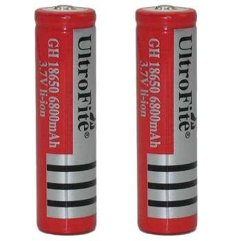 باتری لیتیوم-یون قابل شارژ اولترا فایت  OL-18650 ظرفیت 6800 میلی آمپر ساعت بسته 2 عددی