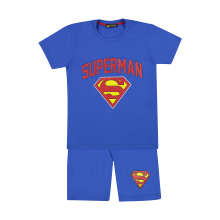 ست تی شرت و شلوارک پسرانه خرس کوچولو طرح سوپرمن کد 02