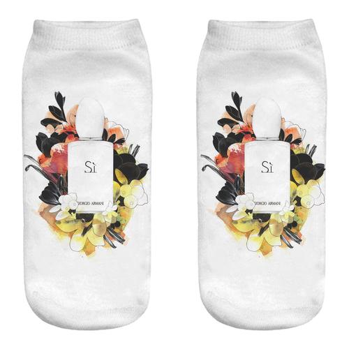 جوراب زنانه طرح ادکلن کد B85