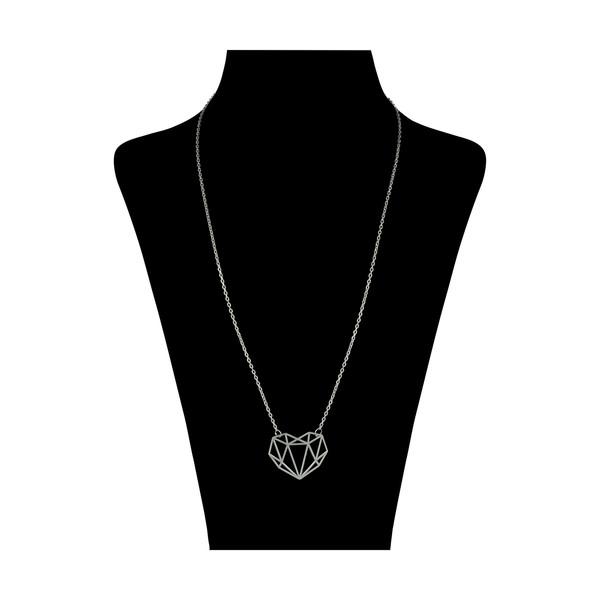 گردنبند نقره زنانه طرح قلب کد DG004