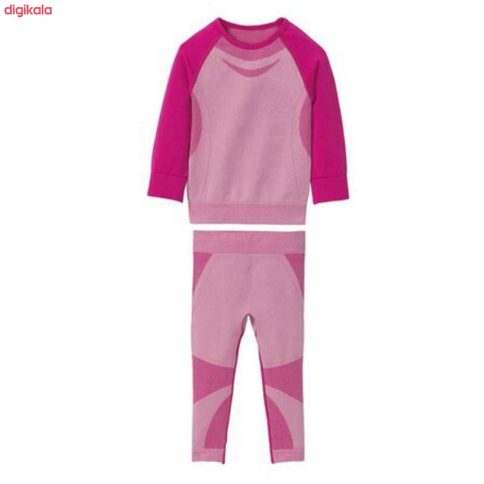 ست تی شرت و شلوار ورزشی دخترانه کرویت مدل K0138 main 1 1