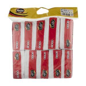 دستمال کاغذی 100 برگ پرژن کد 252 بسته 10 عددی