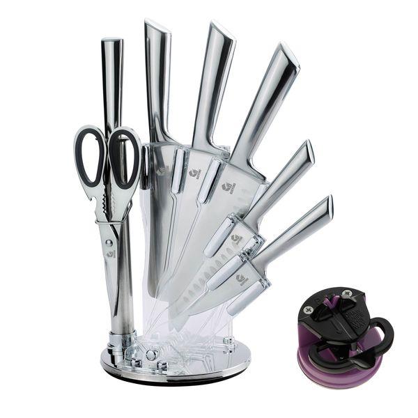 سرویس چاقو آشپزخانه 9 پارچه جی فی نی مدل TS.B.9