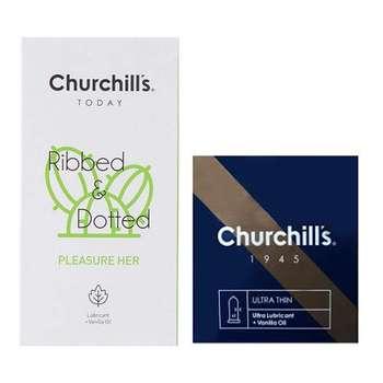 کاندوم چرچیلز مدل Pleasure Her بسته 12 عددی به همراه کاندوم مدل Ultra Lubricant بسته 3 عددی