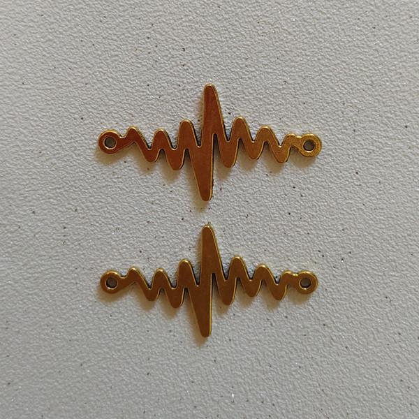 پلاک دستبند طرح ضربان کد HN1540 بسته 2 عددی