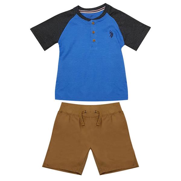 ست تی شرت و شلوارک پسرانه یو اس پلو کد po02