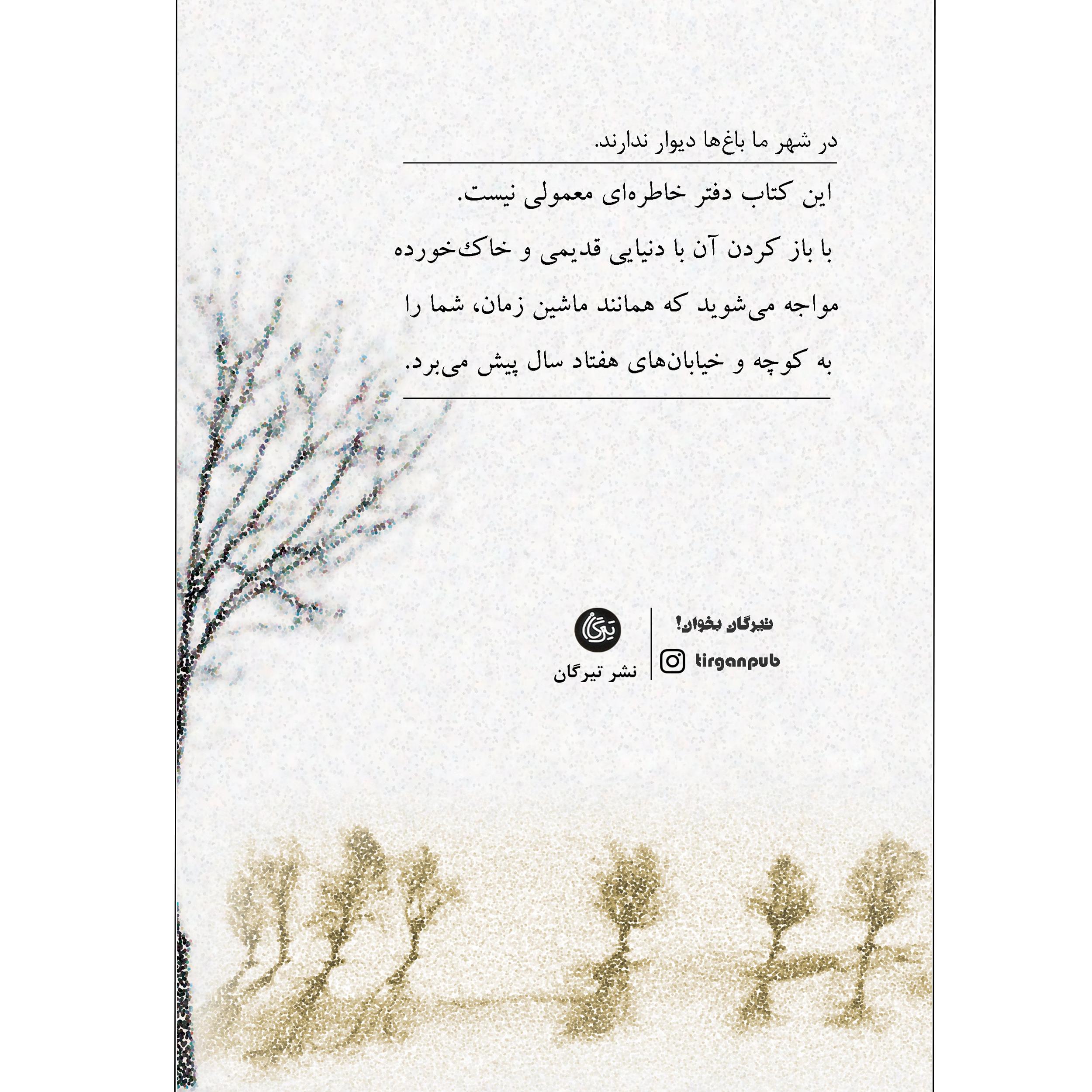 کتاب گزیده ای از در شهر ما باغ ها دیوار ندارند اثر ناصر نظری نشر تیرگان