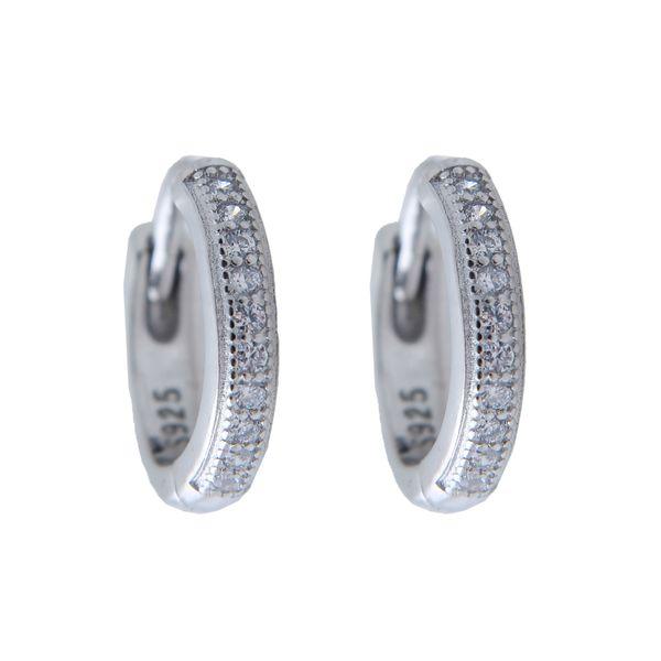گوشواره نقره زنانه بازرگانی میلادی کد GZN_162