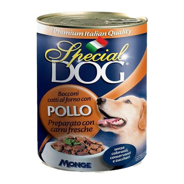 کنسرو غذای سگ اسپشیال داگ مدل Chunks With Chicken  وزن 1275 گرم