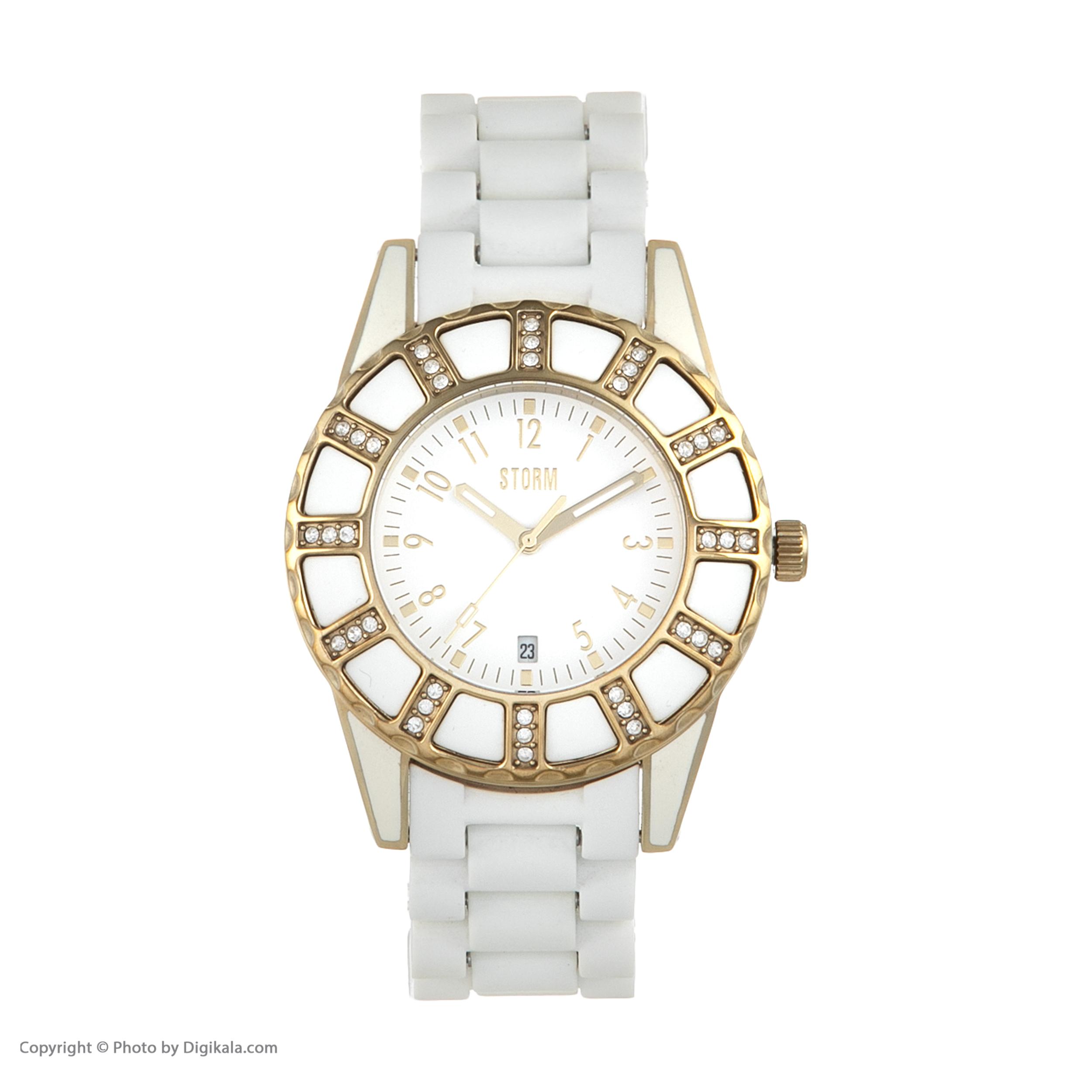 ساعت مچی عقربه ای زنانه استورم مدل ST 47028-GD-W              ارزان