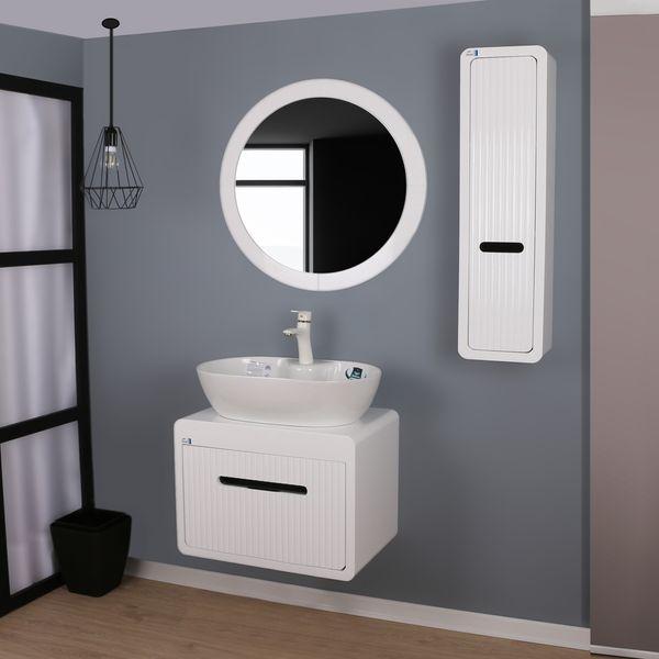 ست کابینت و روشویی دلفین مدل 9075 به همراه آینه و باکس