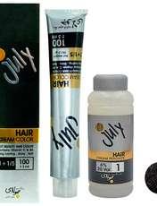 کیت رنگ مو جولای شماره CF.4 حجم 100 میلی لیتر رنگ قهوه ای دودی روشن -  - 1