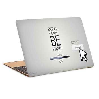 استیکر لپ تاپ طرح dont worry be happyکد c-246مناسب برای لپ تاپ 15.6 اینچ