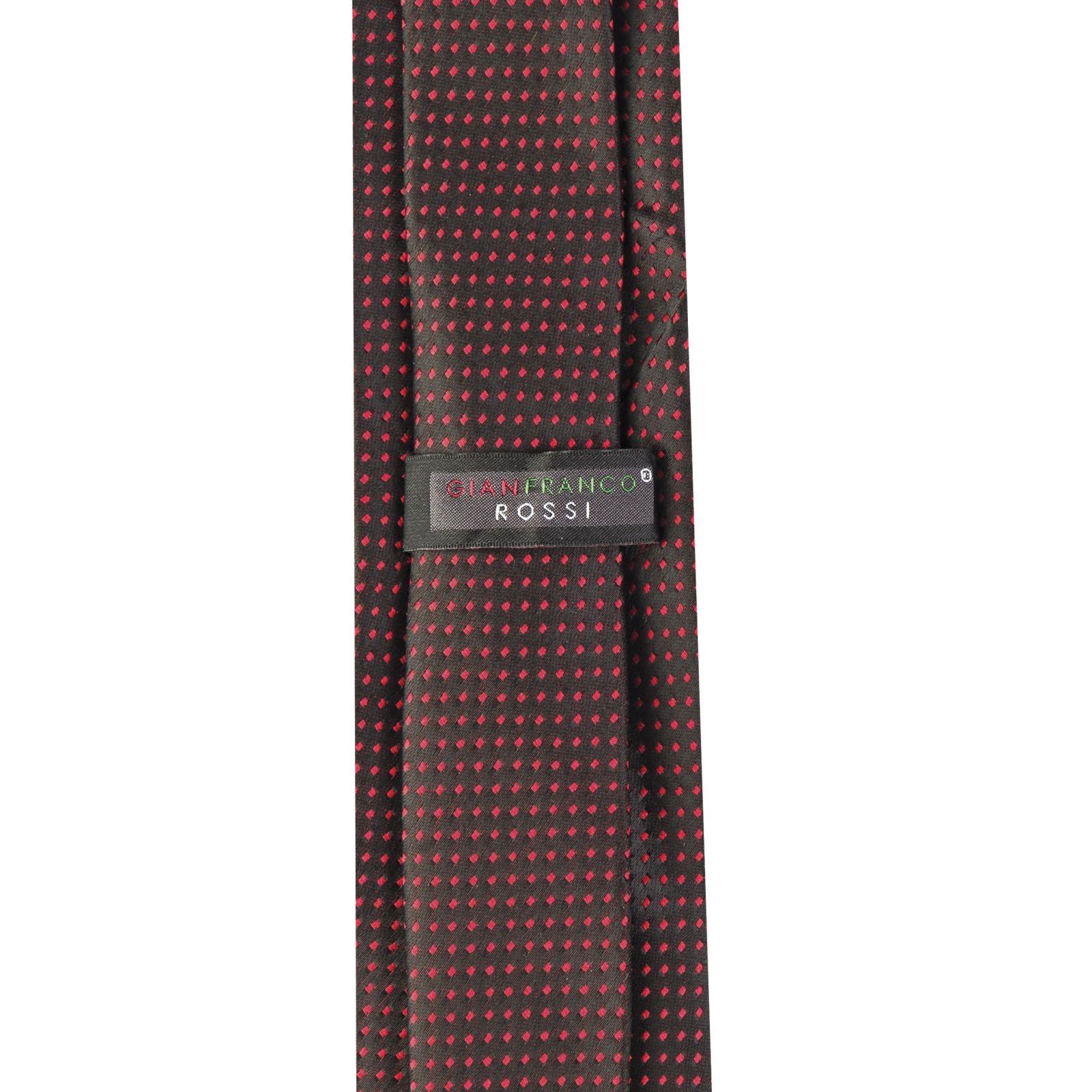 ست کراوات و دستمال جیب و گل کت مردانه جیان فرانکو روسی مدل GF-PO930-BK -  - 6